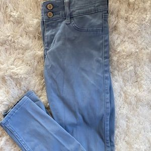 Light blue hollister crop pants